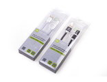 Шнур USB(A)шт. - Lightning (iPhone 5/6/7) + micro USB 1.0м HARPER BRCH-410 SILVER, серебро