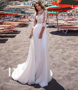 2dc9407c7bd Свадебное белое платье с рукавами