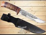 Нож Охотничий НС-51 (Рукоять: наборная кожа, Сталь: ЭИ-107, Тыльник: текстолит)