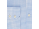 Men's White & Blue Gingham Check Extra Slim Fit Business Shirt