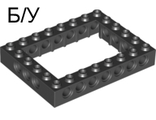 ! Б/У - Technic, Brick 6 x 8 Open Center, Black (40345 / 4162897 / 4188143) - Б/У