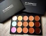 """Профессиональная палитра консилеров (корректоров) 15 цветов """"MAC"""""""