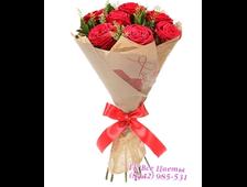 Букет семь роз Элитный
