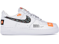 "Nike Air Force 1 Low ""Just Do It"" Белые  Женские (36-40)"