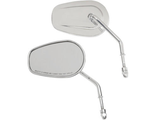 0640-1309 Зеркала Drag Specialties MIRRORS OEM-STYLE TEARDROP LONG STEM CHROME