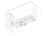 Panel 1 x 2 x 1 with Rounded Corners and 2 Sides, Trans-Clear (23969 / 6139647 / 6248909)