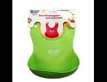 Силиконовый нагрудник для кормления roxy kids зеленый
