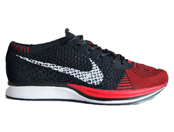 Nike Flyknit Racer Black/Red Мужские (41-45)