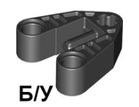 ! Б/У - Technic, Axle and Pin Connector 3 x 3 with Axle, 2 Pin Holes and Axle Hole, Black (58177 / 4497946) - Б/У