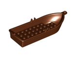 Boat, 14 x 5 x 2 with Oarlocks without Hollow Inside Studs, Reddish Brown (21301)