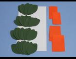 Берёза из фоамирана, набор лепестков