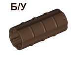 ! Б/У - Technic, Axle Connector 2L Ridged with x Hole x Orientation, Brown (6538b / 4141425 / 4188921) - Б/У