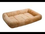 Лежанка для собак прямоугольная с валиком Zoo-M LAMA 85*60*9 см