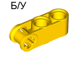 ! Б/У - Technic, Axle and Pin Connector Perpendicular 3L with 2 Pin Holes, Yellow (42003 / 4175441 / 4200324) - Б/У