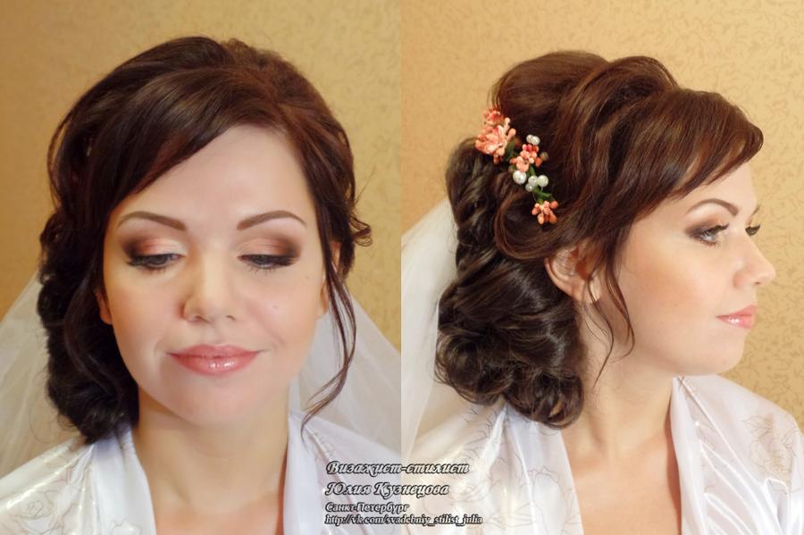 макияж и прическа на дому спб