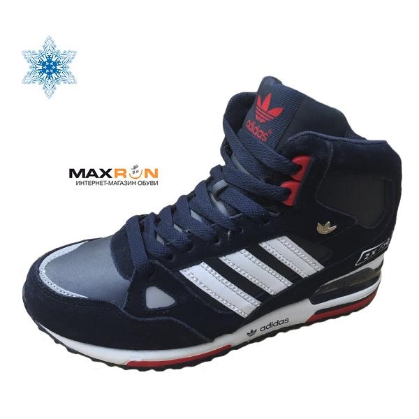 0a1ef111923c Adidas Zx-750 С МЕХОМ мужские темно-синие (41-44) арт-015