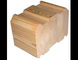 Профилированный брус естественной влажности (погонаж) 150х150х6000