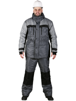 Костюм АЛЯСКА-ЛАБ с брюками, цв. тёмно-серый/светло-серый/чёрный