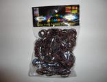 Резиночки коричнево-пепельные 600 шт