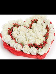 Сердце 31 роза