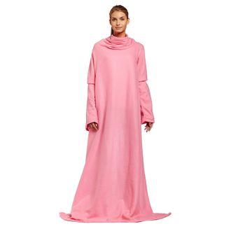 ПЛЕД С РУКАВАМИ SNUGGIE, Снагги, плед - халат, одеяло с рукавами, согревающий, мягкий, флис