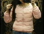 Женская весенняя куртка персиковая 002-108