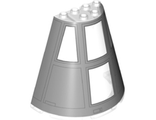 Cone Half 8 x 4 x 6 with SW Resistance Bomber Cockpit Pattern, Trans-Clear (47543pb07 / 6204853)