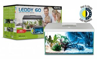 Аквариум AQUAEL LEDDY SET PLUS D&N 60 белый (60*30*30)