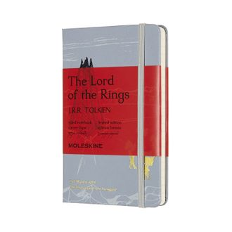 Блокнот Moleskine Lord of the Rings Изенгард (в линейку) pocket, голубой