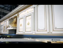 Кухонный гарнитур с фасадами Лукреция Золотая