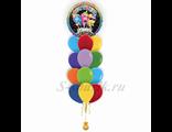 фонтан из шаров с поющим шаром
