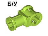 ! Б/У - Technic, Axle Connector with Axle Hole, Lime (32039 / 4175548 / 4265704) - Б/У