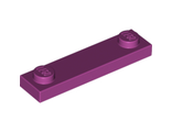 Plate, Modified 1 x 4 with 2 Studs, Magenta (92593 / 6115085)