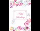 """Поздравительная открытка """"С Днем Рождения. Акварель"""""""