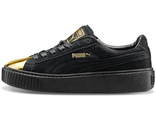 Puma Creepers Suede Platform Gold Star-Black