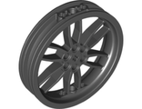 Wheel 75mm D. x 17mm Motorcycle, Black (88517 / 6176748)