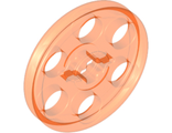 Technic Wedge Belt Wheel (Pulley), Trans-Neon Orange (4185 / 4172601 / 6124680)