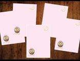 """Бумага для писем 5 листов """"Совушка и звездочки"""""""