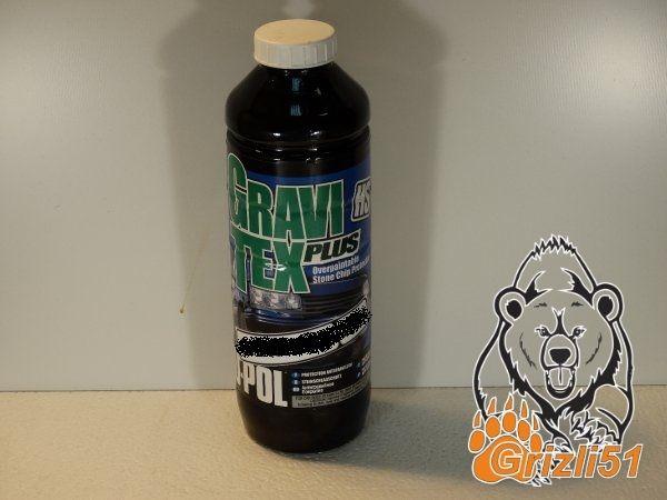 U-POL GraviTex PLUS белый 1л. (бутылка)