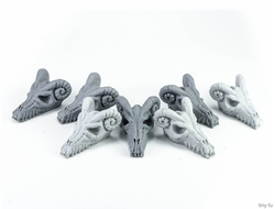 Dragon skulls (unpainted)