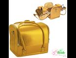 Кейс Professional GOLD для мастеров по маникюру, парикмахеров и визажистов