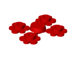 Plant Flower Small, 4 on Sprue, Red (3742c01 / 374221 / 4106915)