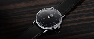 Часы мужские LACO VINTAGE 38 MM AUTOMATIC BLACK