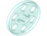 Technic Wedge Belt Wheel ;Pulley;, Trans-Light Blue (4185 / 4182959 / 6096296 / 6321351)