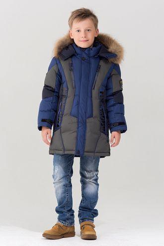 Bilemi куртка из биопуха для мальчиков 516621 (синий) фронт