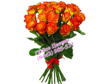 Коралловый букет роз