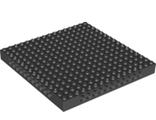 Technic, Brick 16 x 16 x 1 1/3 with Holes, Black (65803 / 6302092)