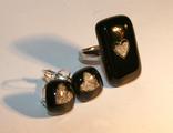 Комплект серьги+кольцо для возлюбленной