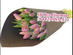 Букеты из розовых Тюльпанов