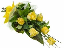 17 желтых роз